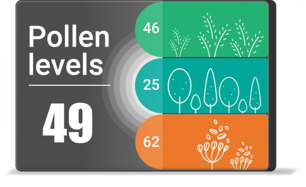 Air quality feature: pollen data