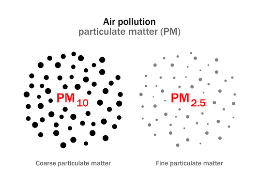 The Different Sizes of Particulate Matter