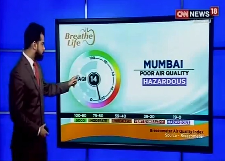 CNN India News 18 Powered by BreezoMeter
