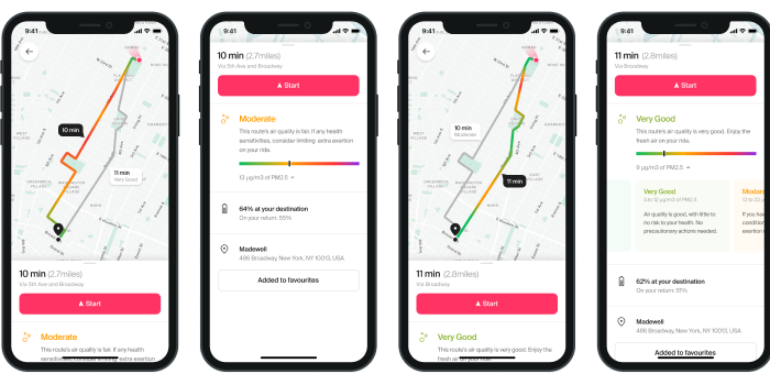 Smart Mobility Brand Cowboy Partners with BreezoMeter for Electric Bike Cleaner Route Planning