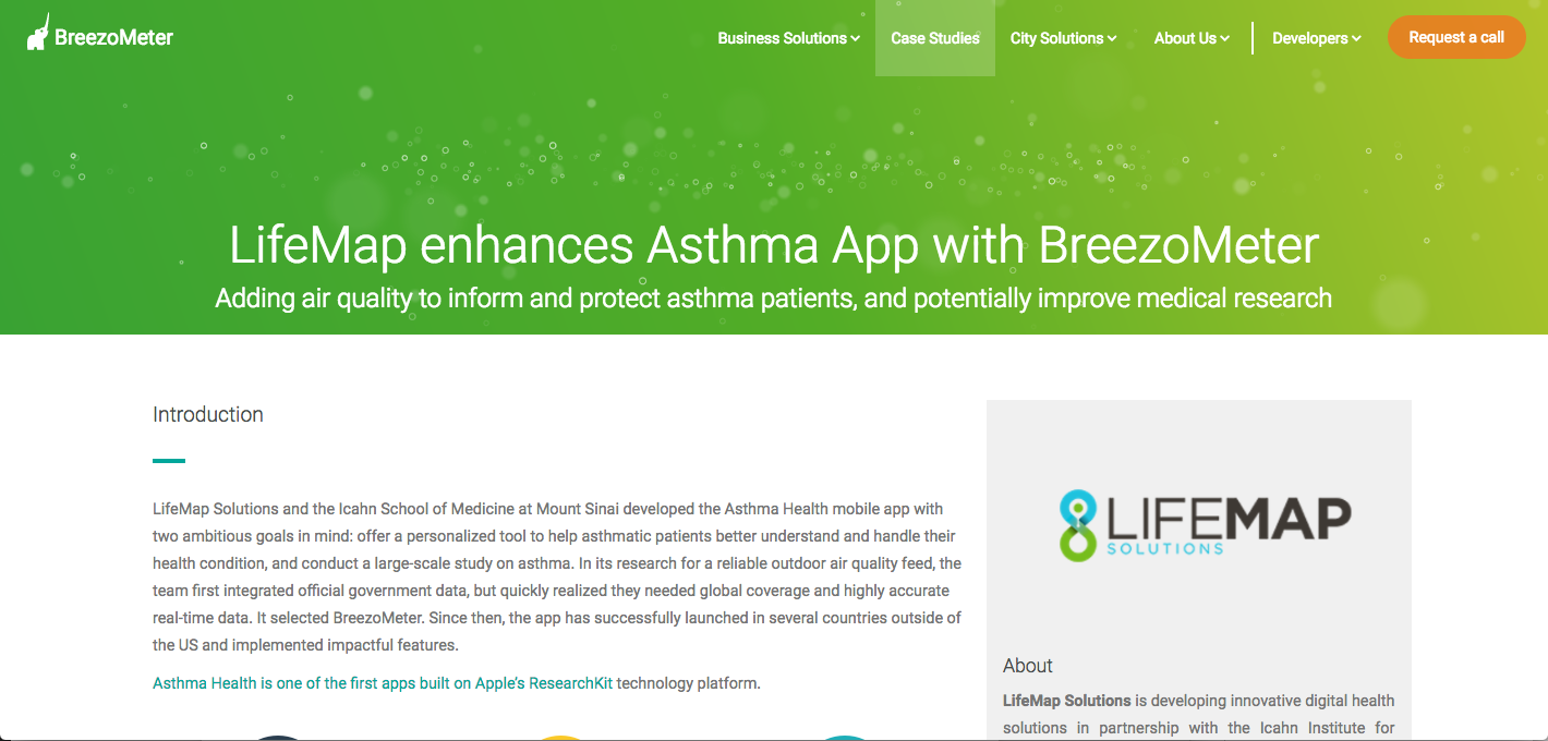 Asthma, Digital Health Case study screenshot.png