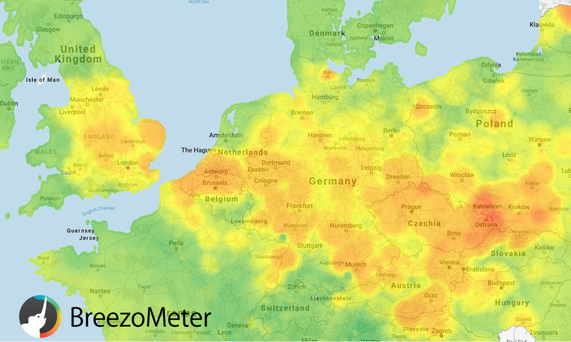 March 3 Air Pollution Powered by BreezoMeter API