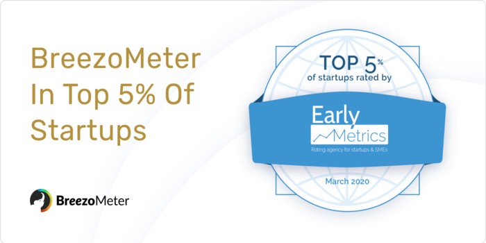 BreezoMeter is a Top 5% Startup According to Early Metrics!