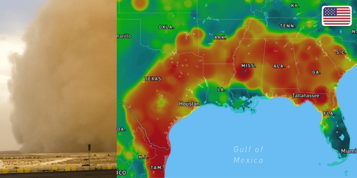 BreezoMeter Captures Godzilla Dust Cloud's Impact on USA Air Quality: As it Happened