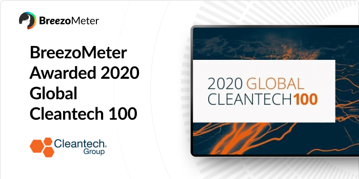 BreezoMeter Named One of 2020 Global Cleantech 100
