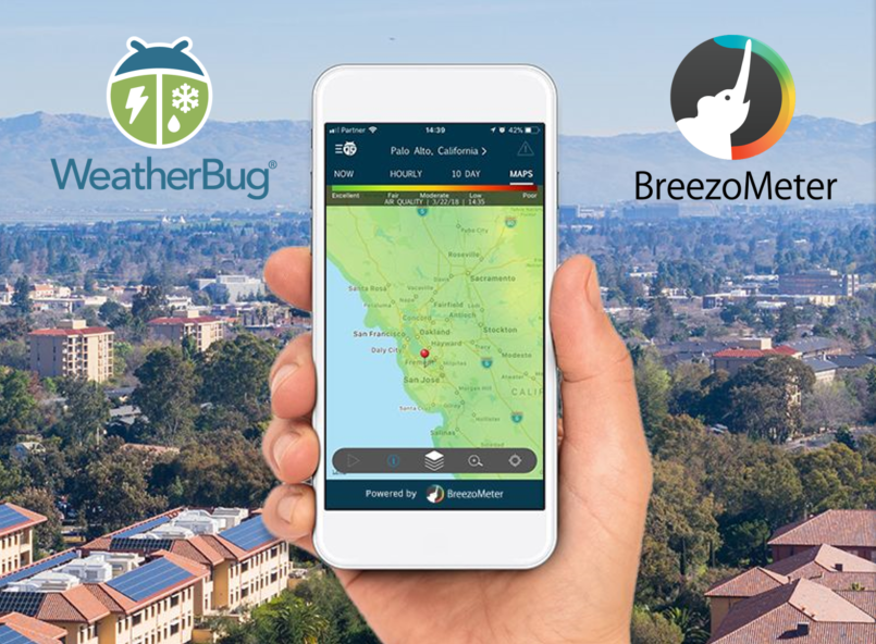 WeatherBug Air Quality Launch BreezoMeter