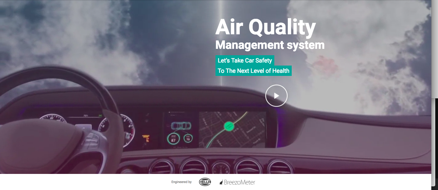 HELLA & BreezoMeter Introduce: Air Quality Management System for Vehicles