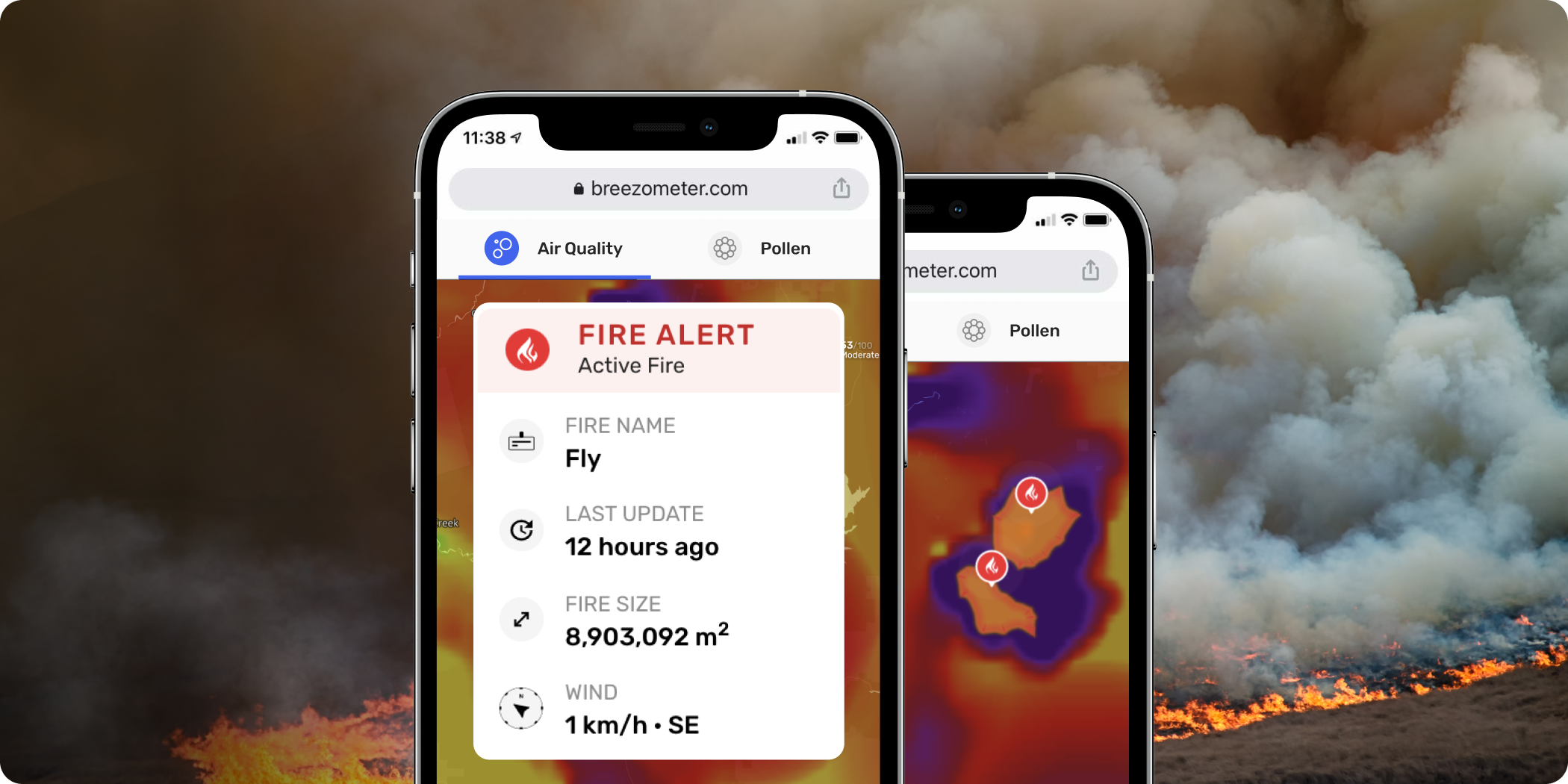 BreezoMeter's New Live Wildfire Tracking: Revolutionizing Fire Monitoring!